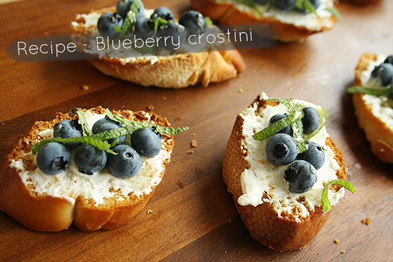 Recipe - Blueberry crostini