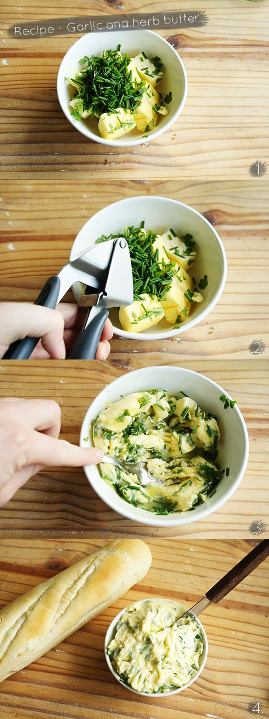 Recipe - Garlic and herb butter