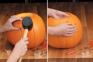pumpkin carving with cookie cutters