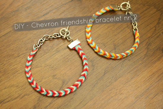 chevron friendship bracelet tutorial in pictures!