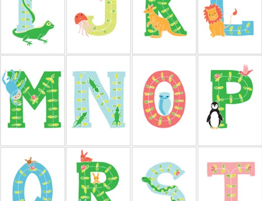 alphabet letter posters animals
