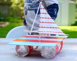 Summer craft: DIY sailboat