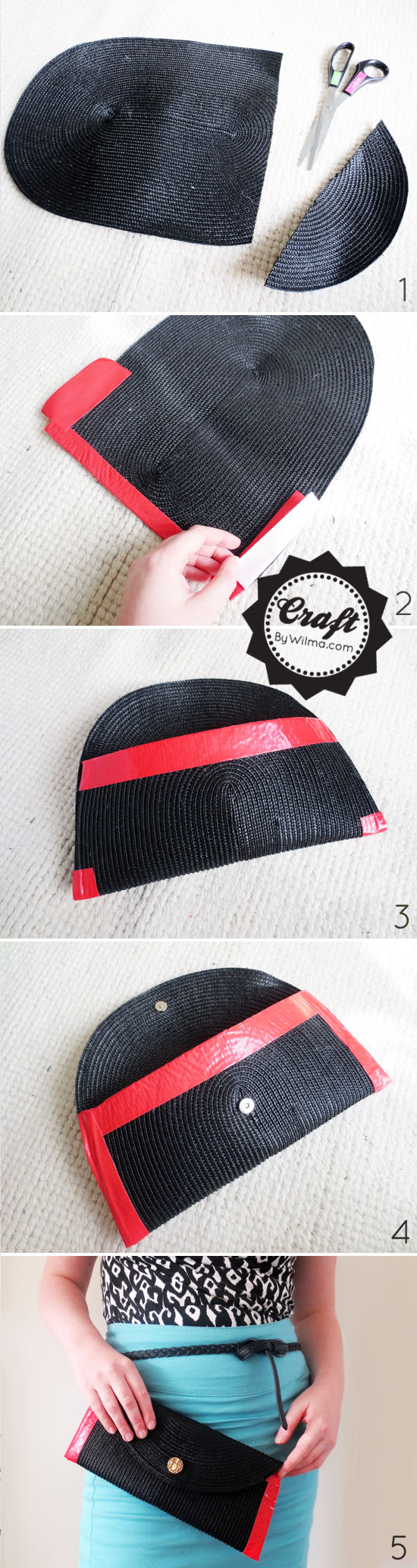 how to make table mat with woolen thread