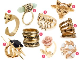 Amazing gold tone rings! #jewelry #ring #gold