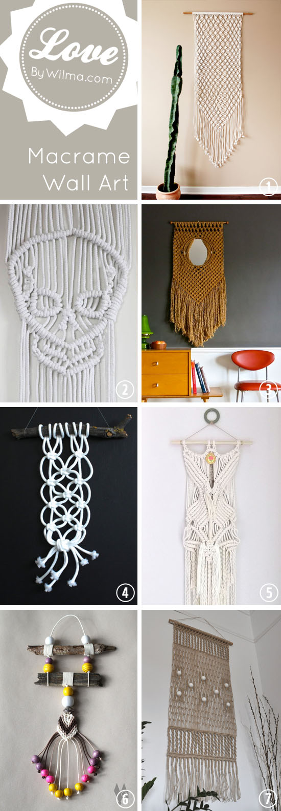 Love this: Macrame wall art on Etsy