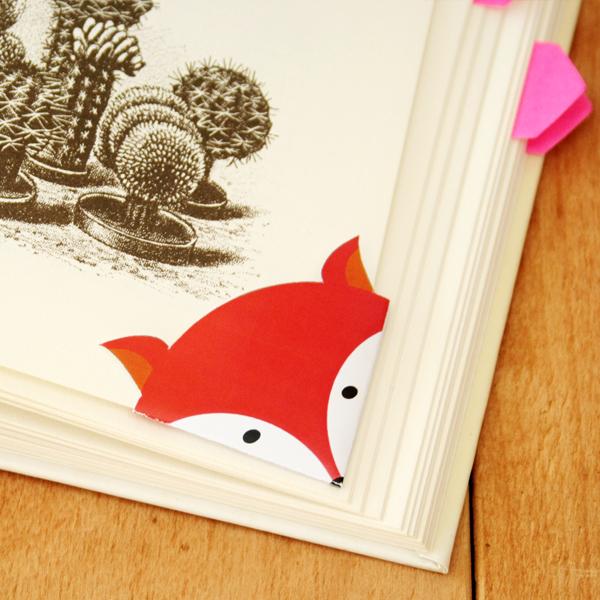 photo about Free Printable Corner Bookmarks titled Do-it-yourself - Printable fox corner bookmark Through Wilma