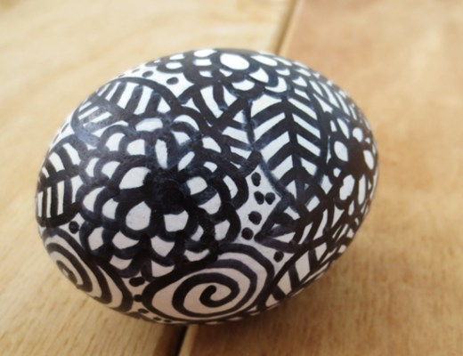 Doodle Easter egg DIY Project