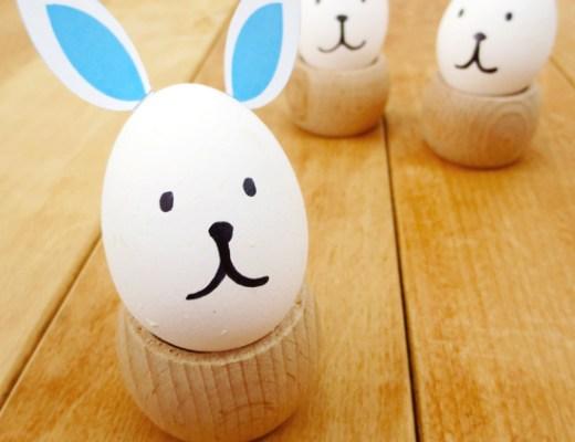 Easter bunny eggs with pdf ear printable
