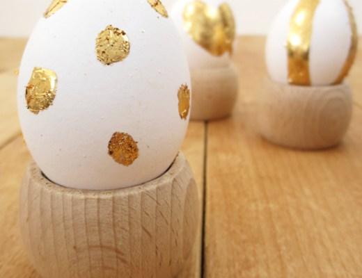 Gold leaf Easter egg diy project