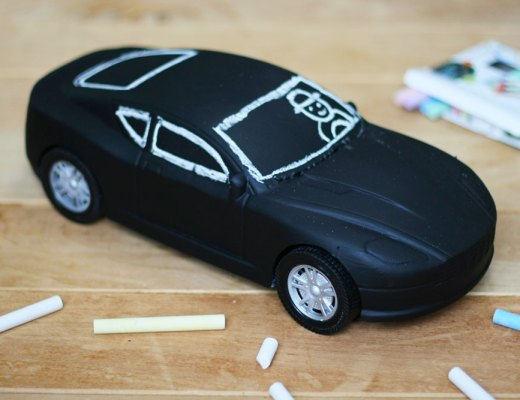 DIY - Chalkboard play car