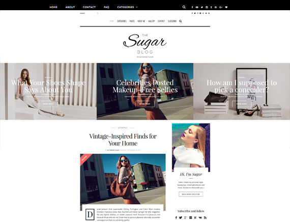 The Sugar Blog Theme Themeforest