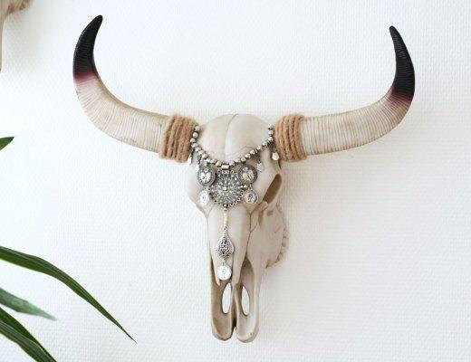 DIY - Ibiza style buffalo skull