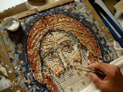 mosaic icon jesus christ
