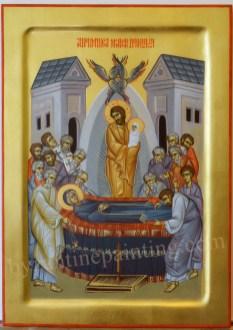 Icoana pictata - Adormirea Maicii Domnului.The Dormition (Falling Asleep) of the Theotokos