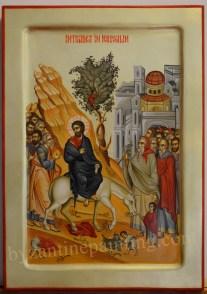 icon painting Palm Sunday
