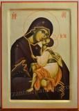 Icoana pictata - Maica Domnului cu Pruncul