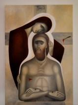 Pieta - contemporary iconography. Liviu Dumitrescu