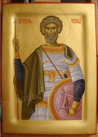 Saint Menas, byzantine painting for sale