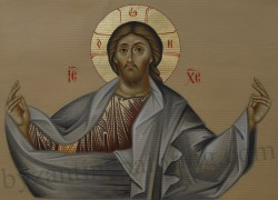 jesus christ pantocrator icon painted