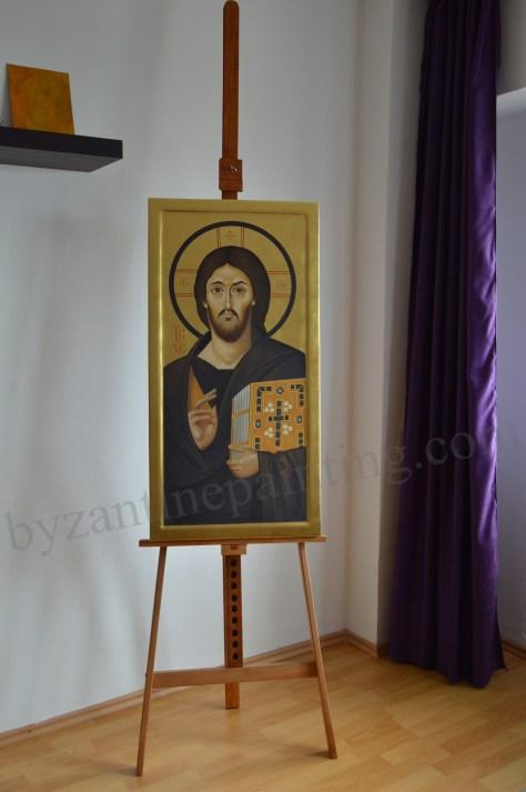 Icoana Mantuitorului Iisus Hristos pictata in encaustica de la Muntele Sinai