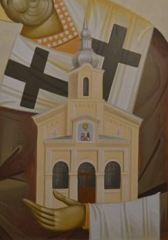 Saint Nicholas bizantine icon painted