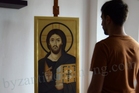 Icoana pictata Iisus Hristos Muntele Sinai