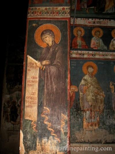 Pictura murala Manastirea Gracanica Serbia