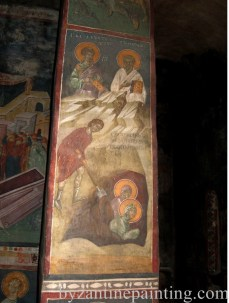 Pictura murala Manastirea Gracanica Serbia (8)