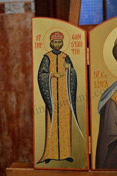 St. Constantine byzantine icon painted