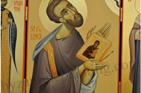 St. Luke the Evangelist painted icon