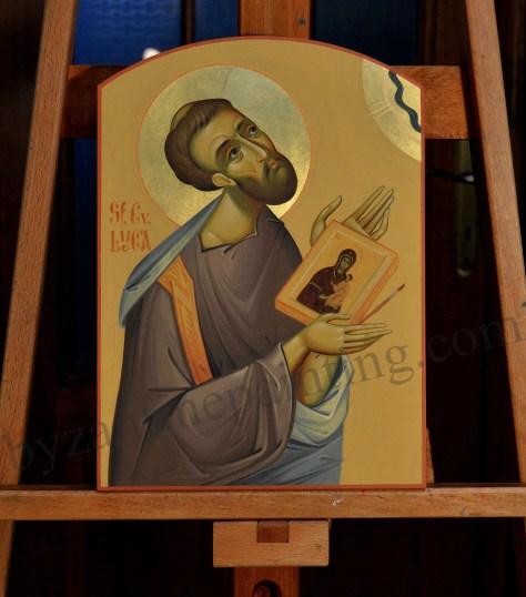 St. Luke the Evangelist painted icon