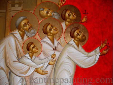 Icon Brancoveanu Holy Martyrs