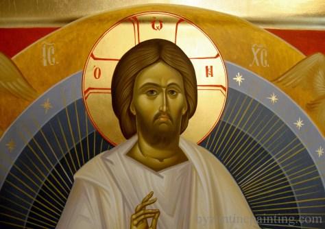 Icoana pictata Iisus Hristos pe Tronul Slavei (1)