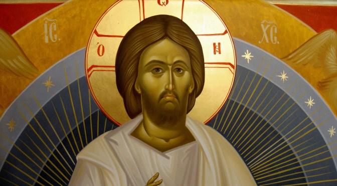 Icoana Iisus Hristos pe Tronul Slavei