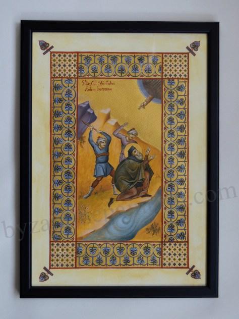 Miniatura Antim Ivireanul Sfârșitul Sfantului (1)
