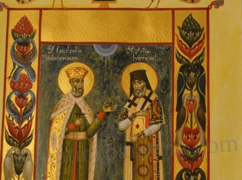 Miniatura bizantina Sfantul Constantin Brancoveanu si Sfantul Antim Ivireanul (2)