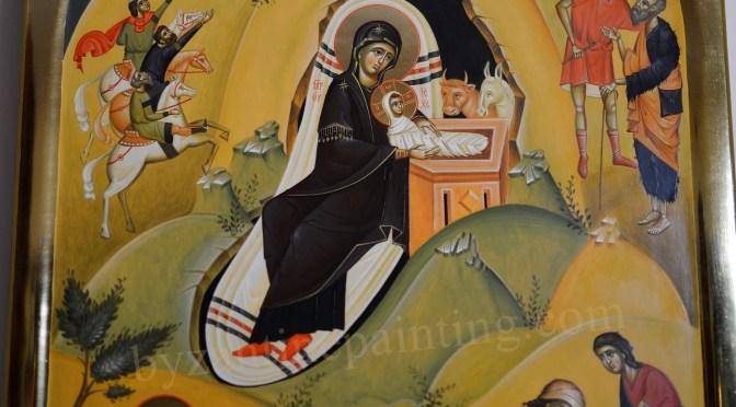 Icoana pictata – Nasterea Domnului