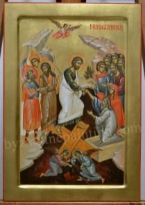 Anastasis byzantine icon painting
