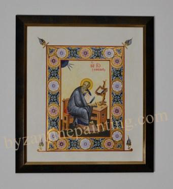 Painted miniature Saint John the Evangelist (3)