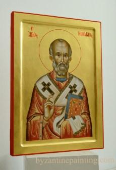 Sfantul Nicolae -icoana pictata pe lemn