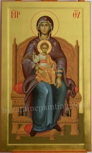 MOTHER OF GOD-ICON PAINTED FOR ICONOSTASIS. DUMITRESCU STUDIO ICONOGRAPHY