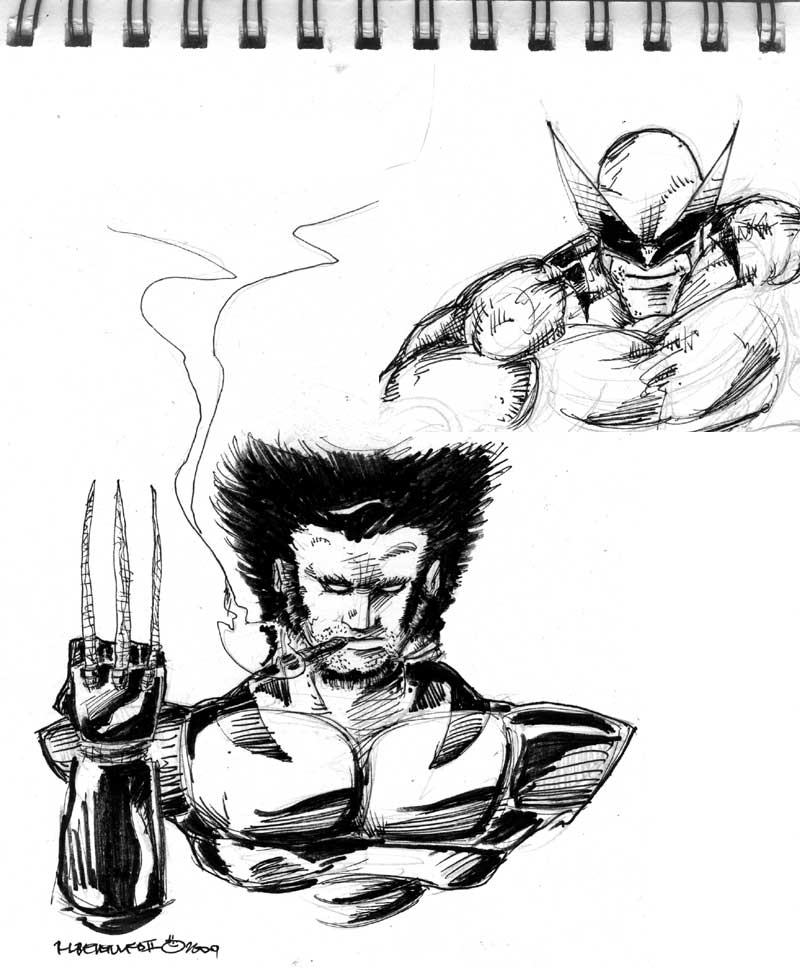 Wolverine thoughtless sketch FAIL