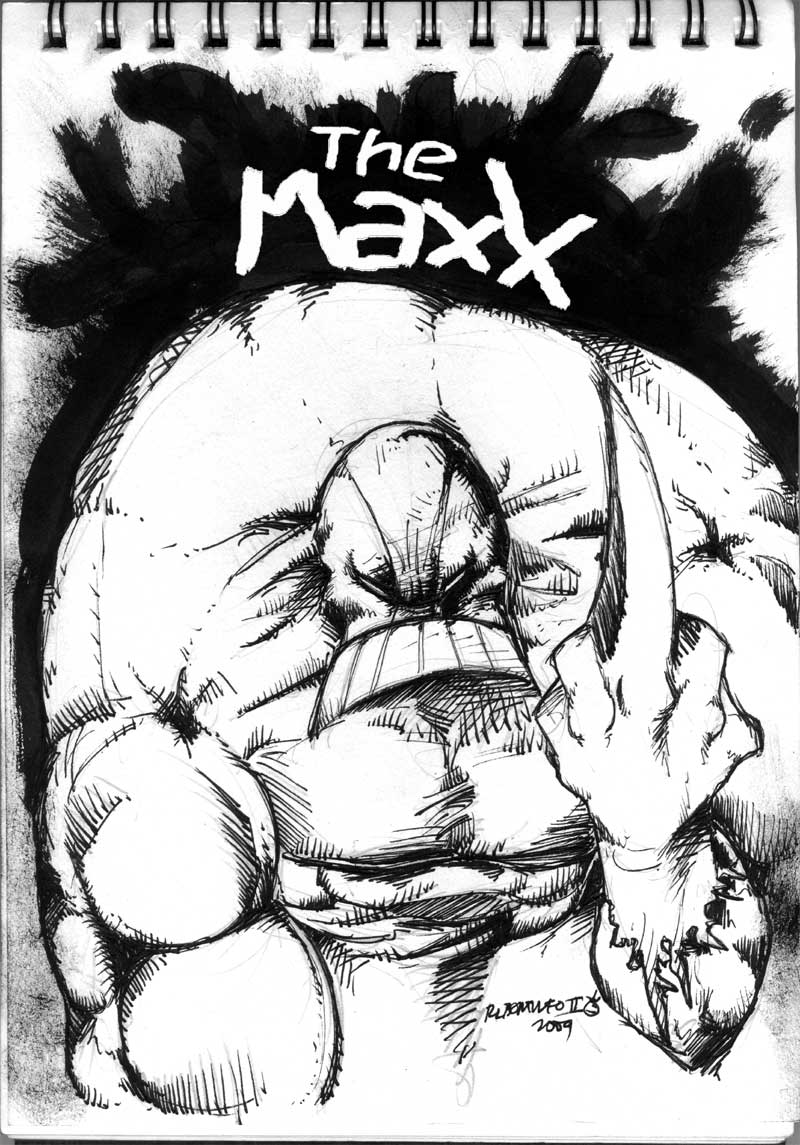 The Maxx is giving you the Finger!since issue number one