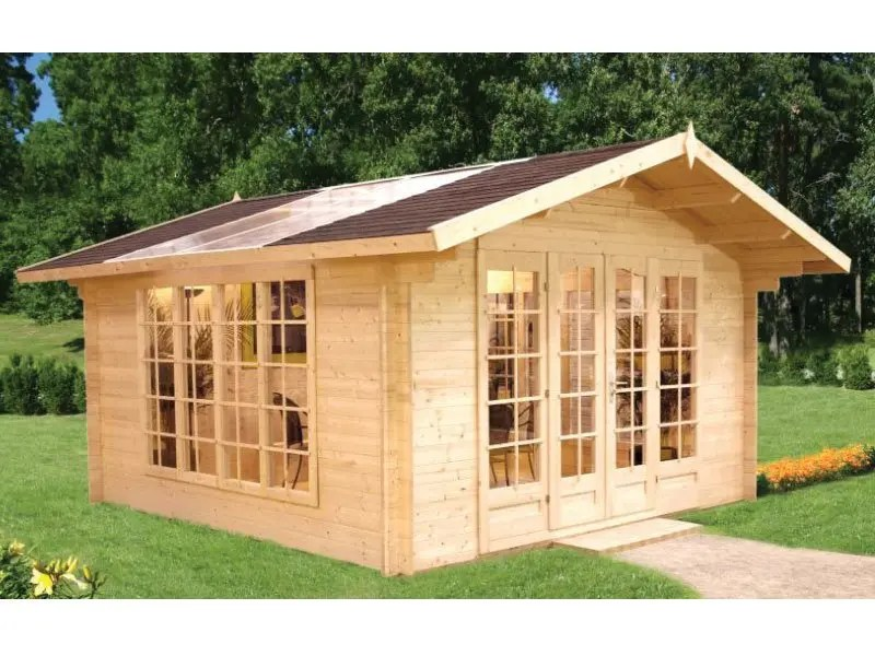 Winter Log Cabin Kit  BZB Cabins And Outdoors