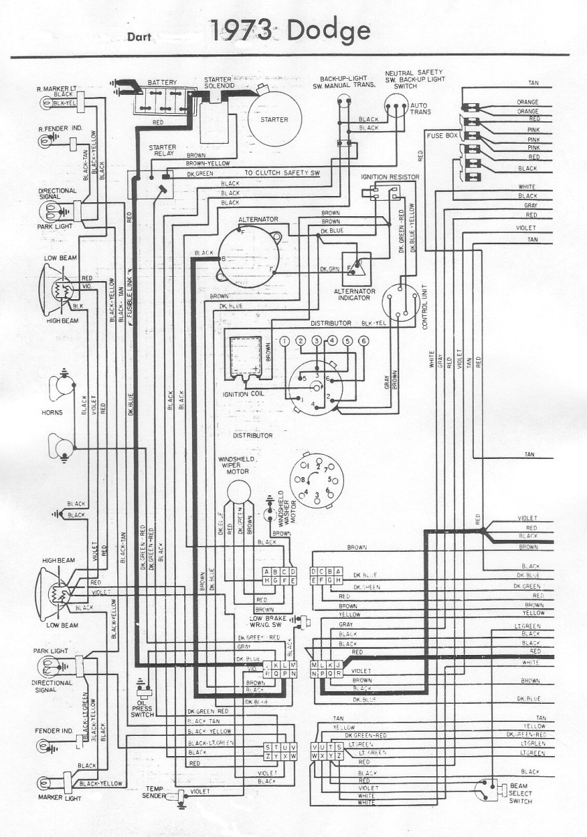 small resolution of 73 dodge dart wiring diagram a