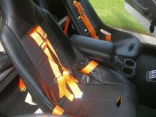 Racing seats and 4 point harness