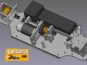 Vue 3D paramétrique chassis YANKEE 90 BRUSHLESS