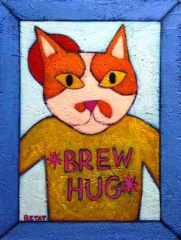 Brew Hug cat painting
