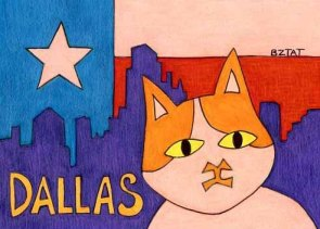 Brewskie-Butt-ginger-white-cat-Dallas-Texas-drawing-BZTAT-
