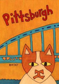 Brewskie-Butt-ginger-white-cat-Pittsburgh--drawing-bridge